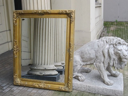 The Mayfair - Antique Gold: Available in Sizes Ranging from 4Ft x 3Ft up to 7Ft x 4Ft Mirrors > Gold Mirrors