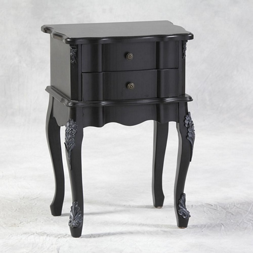 Versailles Black French Side Table. Tables > Coffee And Side Tables