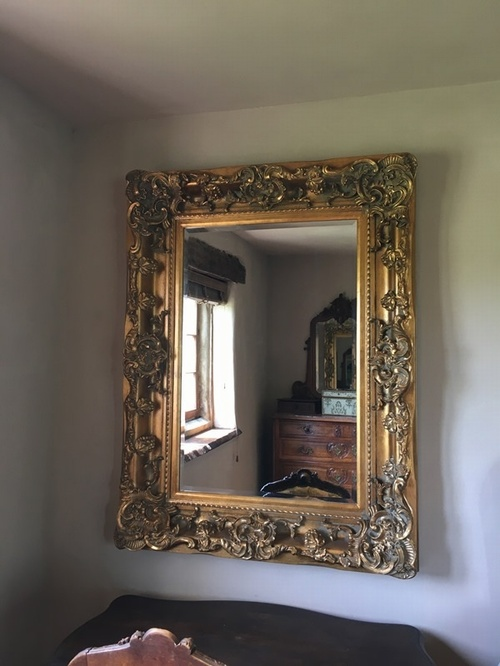 The Champagne - Antique Gold: Available in Sizes Ranging from 4Ft x 3Ft up to 7Ft x 4Ft Mirrors > Gold Mirrors