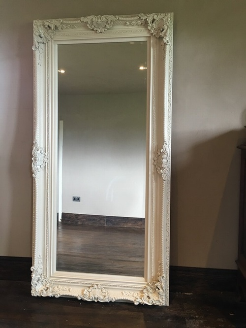 The Phoenix - Antique White: Available in Sizes Ranging from 4Ft x 3Ft up to 7Ft x 4Ft Mirrors > White Mirrors
