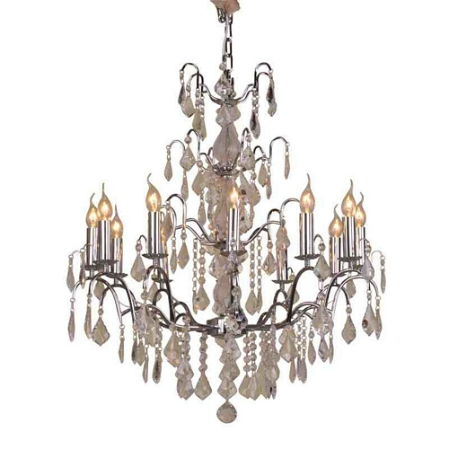 The Marseilles: Large 12 Branch Chrome French Chandelier Lighting > Chandeliers