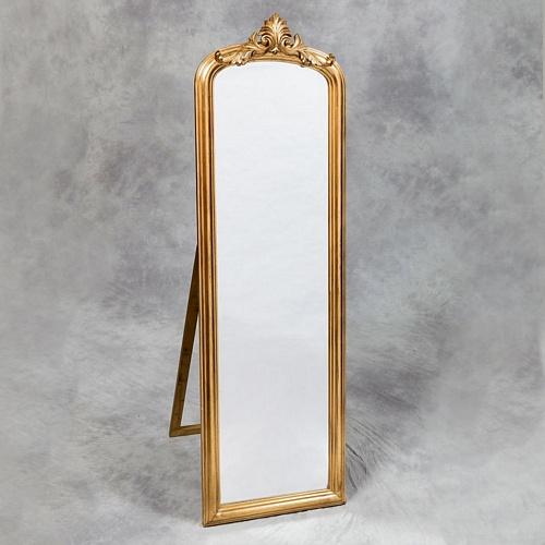 The calais antique gold 180cm x 58cm mirrors for Tall gold mirror