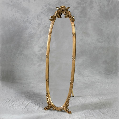 The Verona - Antique Gold: 164cm x 48cm Mirrors > Gold Mirrors