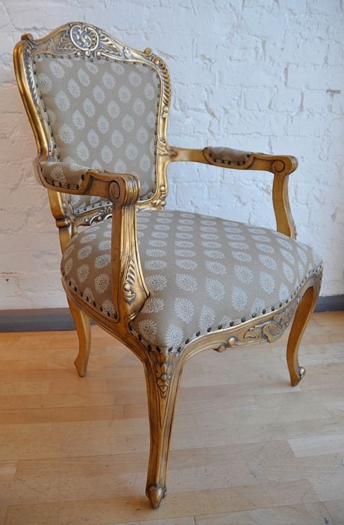 The Grand Louis Chair - Antique Gold & Regina Seating > Chairs