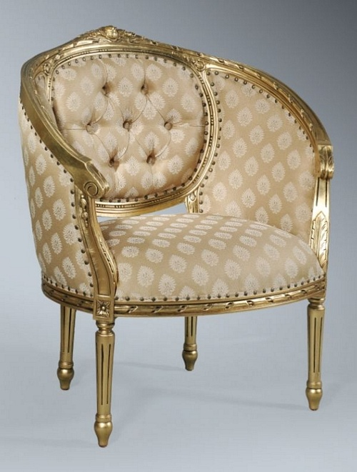 The Single Loveseat: Antique Gold Leaf & Sesame Seating > Small Sofas/Love Seats