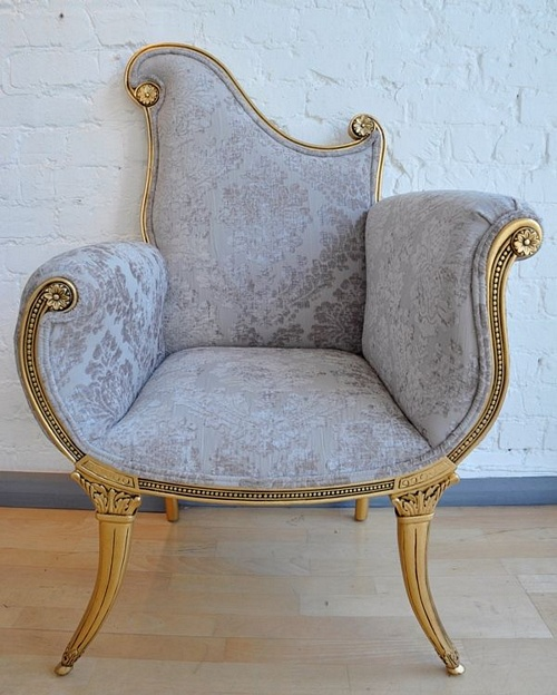 The Florence Chair: Gold Leaf Seating > Chairs