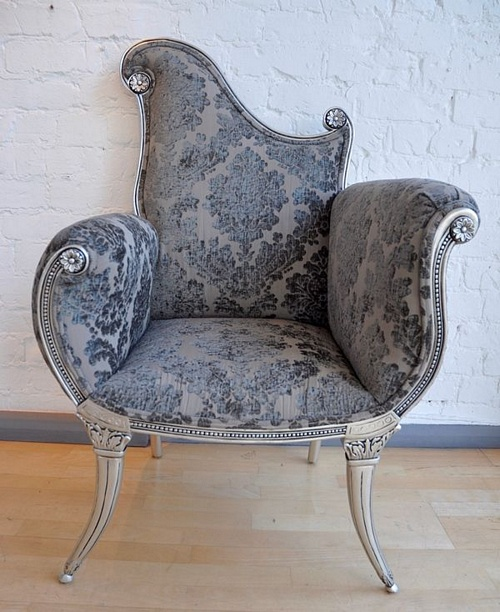 The Florence Chair: Antique Silver Seating > Chairs