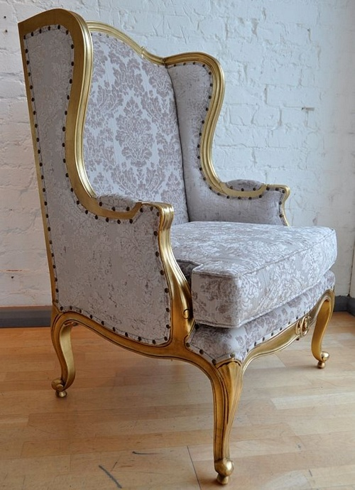 The Wingback Chair: Gold Leaf & Champagne Seating > Chairs
