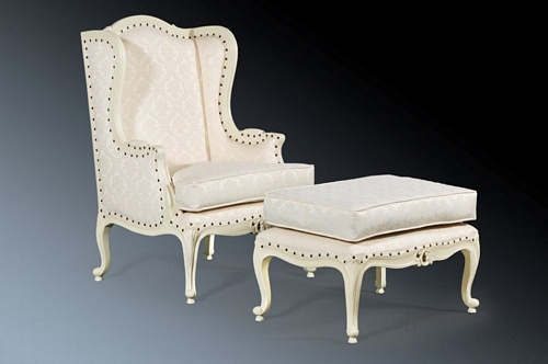 The Wing back Chair: Antique White Seating > Chairs