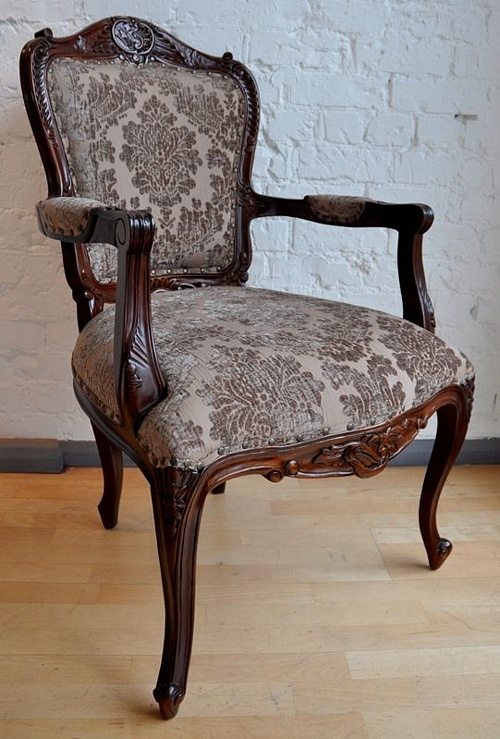 The Grand Louis Chair - Walnut & Mocha Seating > Chairs