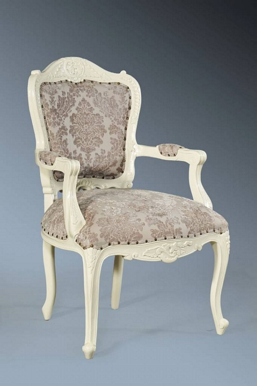 The Grand Louis Chair - Antique White & Champagne Seating > Chairs