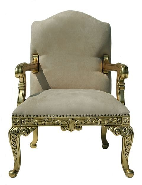 The grand rococo chair gold leaf seating for Baroque reproduction furniture