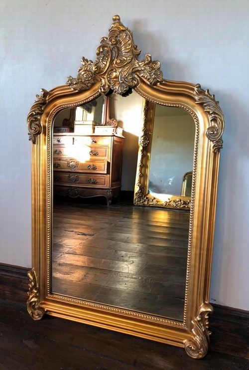 Baroque Gold Mirrors The Annecy Mirror - Antique Gold 4FT High Mirrors u003e Gold Mirrors