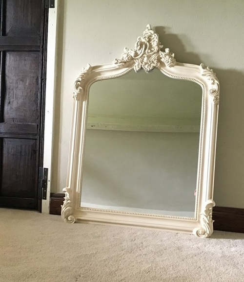 The Annecy Mirror Antique White 163 189 00 Mirrors White