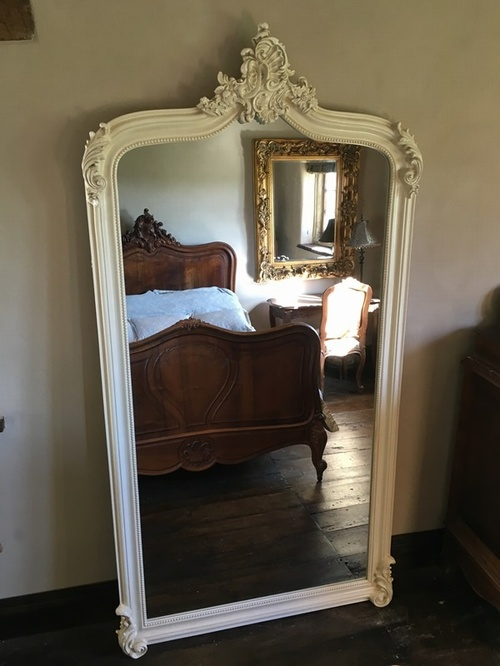 The Annecy Mirror:7FT -French Ivory/Cream Mirrors > White Mirrors