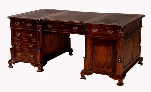 Mahogany Partner Desk Office > Desks