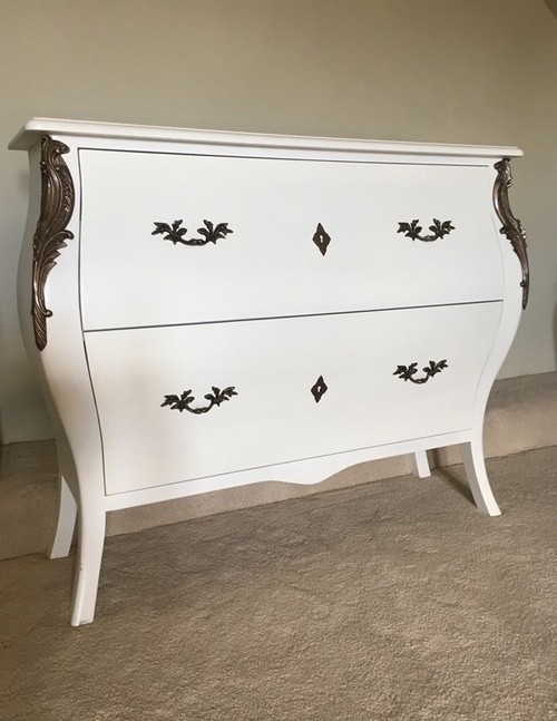 The Large Serpentine Chest: French White £349.00 - Furniture - Chest ...