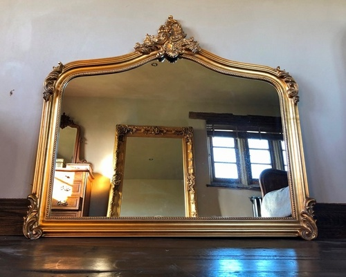 The Annecy Antique Gold Large Over Mantle Mirror 163 249 00