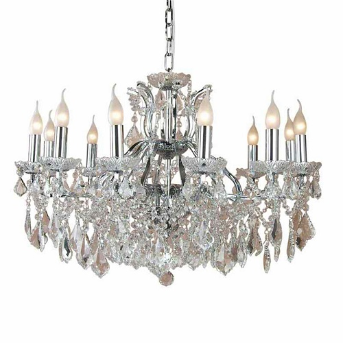 The Toulouse Chrome 12 Branch Shallow Chandelier 163 519 00