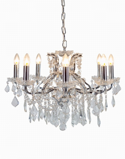 REDUCED PRICE TO CLEAR!!The Toulouse: Chrome 6 Branch Shallow Chandelier Lighting > Chandeliers