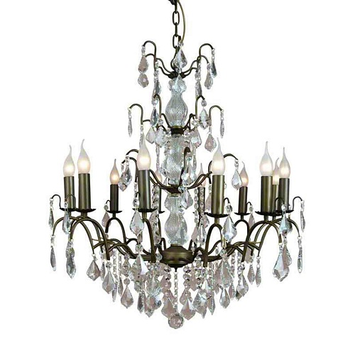 The Marseilles: Large 12 Branch Antique Gold  French Chandelier Lighting > Chandeliers