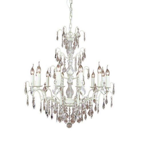 The Marseilles: Large 12 Branch Antique White French Chandelier Lighting > Chandeliers
