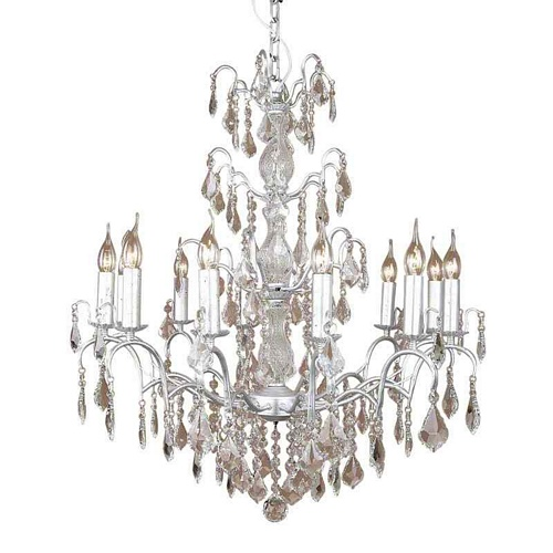 The Marseilles: Large 12 Branch Silver French Chandelier Lighting > Chandeliers