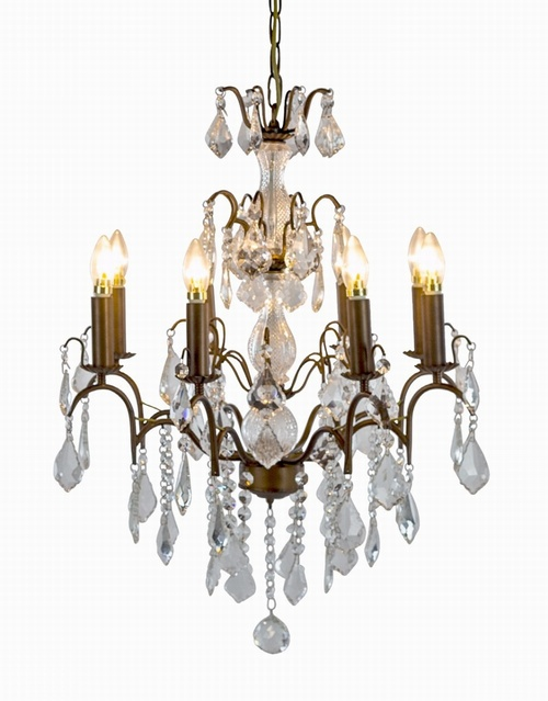The Marseilles: 8 Branch Antique Gold French Chandelier Lighting > Chandeliers