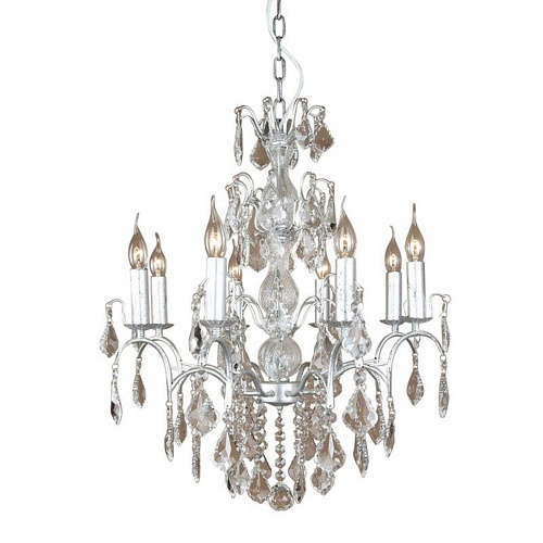 The Marseilles: 8 Branch Silver French Chandelier Lighting > Chandeliers