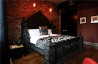 Black Monumental Bed