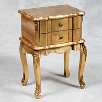 Versailles Antique Gold French Side Table.