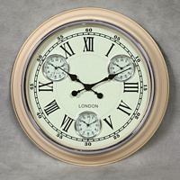 Cream with White Face Multi Dial Wall Clock