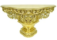The Florence console: Gold Leaf.