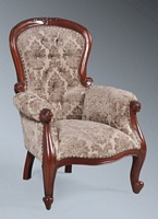 The Grandfather Chair - Polished Mahogany