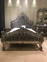 The Charles Bed - Antique Silver