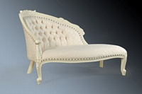 The Petite Chaise Longue: French Ivory.