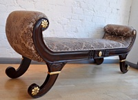 The Double Gondola: Gold Leaf & Walnut