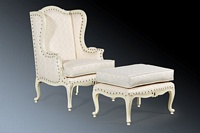 The Wing back Chair: Antique White