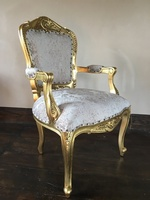 The Grand Louis Chair - Gold Leaf & Champagne