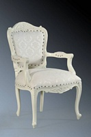 The Grand Louis Chair - Antique White & Regency