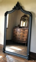 The Annecy Mirror - Matt Black 181cm x 111cm