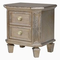 Classic Midas Gold Effect 2 Drawer Bedside Cabinet