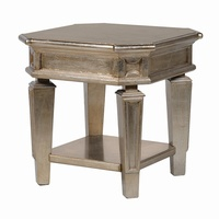 Midas Gold Effect Distressed Side Lamp Table