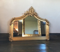 The Annecy: Small Over Mantle - Antique GoldThe Annecy: Small Over Mantle - Antique Gold