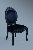 The Versailles Chair : Matt Black w/ Black Velvet