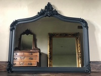 The Annecy: Large Over mantle Mirror - Matt Black