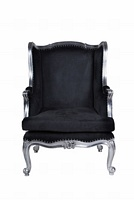 The Wingback Chair: Silver Leaf