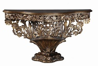 The Florence console: Antique Gold