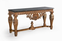 The Belfort Console Table: Old Gold