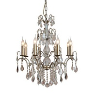 The Marseilles: 8 Branch Pale Gold French Chandelier